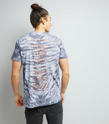 Blue Tie Dye City Of Angels Print T-Shirt New Look