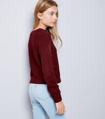 teens-burgundy-cut-out-neck-knit-jumper