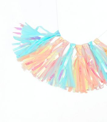 Pink Iridescent Tassel Garland New Look