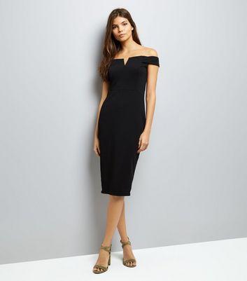 AX Paris Black Bardot Neck Midi Dress New Look