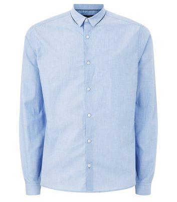 Blue Cross Hatch Long Sleeve Shirt New Look