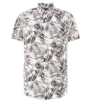 Pink Palm Print Short Sleeve Shirt New Look