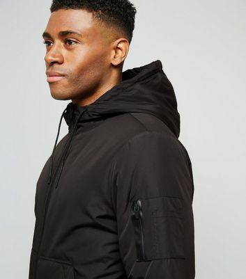 Black Hooded Jacket New Look