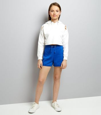 Teens Blue Ring Side Jersey Shorts New Look