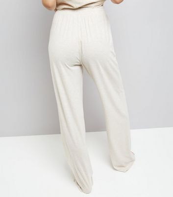 Tall Cream Jersey Pyjama Joggers New Look