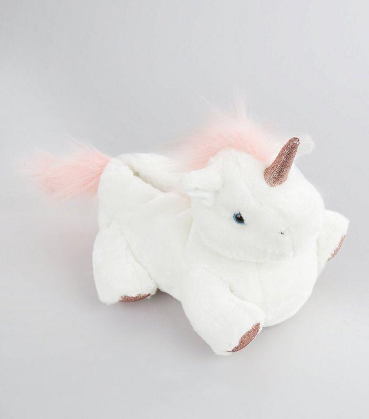 7816e7bbb3ec White Unicorn Slippers