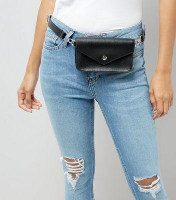 Black Mini Satchel Bag New Look