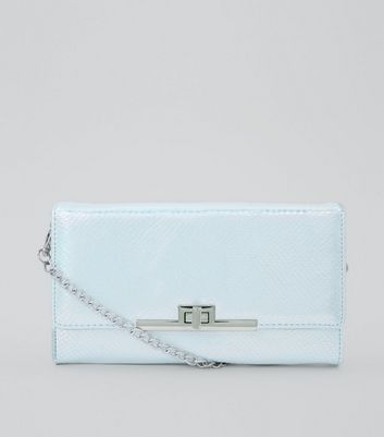 Silver Pearly Purse Clutch New Look