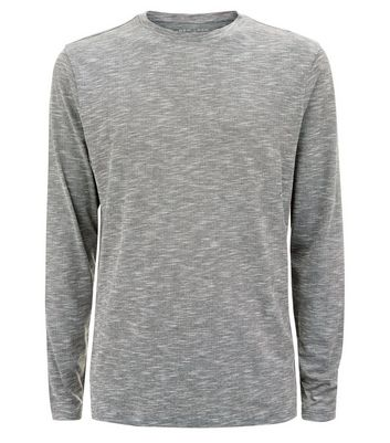 Grey Longsleeve T-Shirt New Look