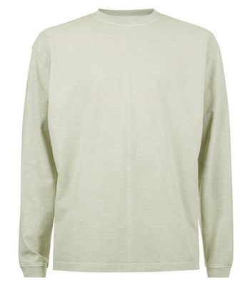 Grey Long Sleeve Cuff T-Shirt New Look