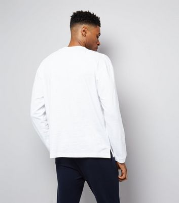 White Round Neck Long Sleeve T-Shirt New Look