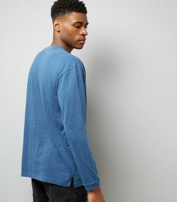 Blue Round Neck Long Sleeve T-Shirt New Look