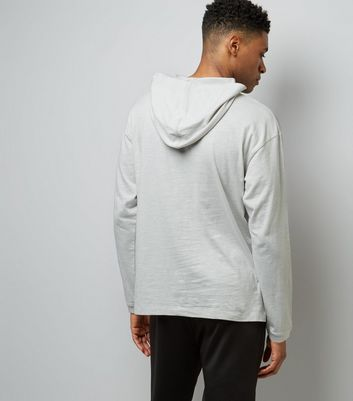 Grey Long Sleeve Hoodie New Look