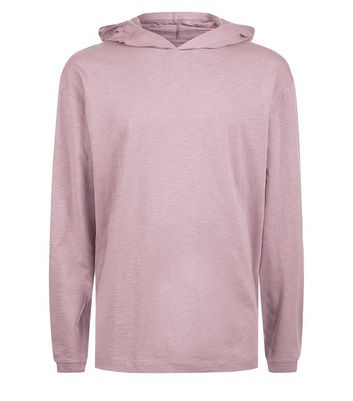 Dark Pink Long Sleeve Hoodie New Look