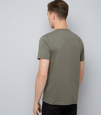 Khaki Henley Shirt New Look
