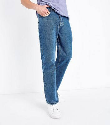 Navy Straight Leg Jeans New Look