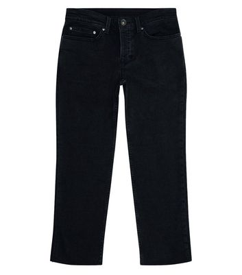 Black Raw Hem Jeans New Look