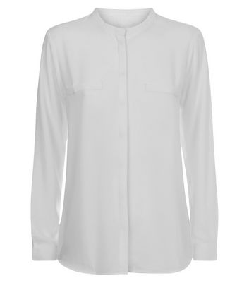 JDY White Long Sleeve Shirt New Look