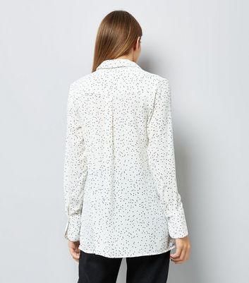 White Spot Print Shirt New Look