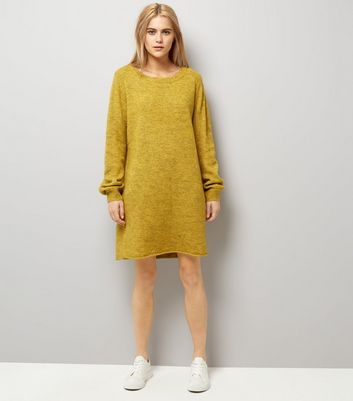 JDY Yellow Long Sleeve Dress New Look