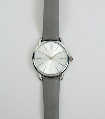 Grey Strap Watch New Look