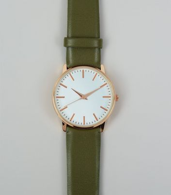 Khaki Strap Watch New Look