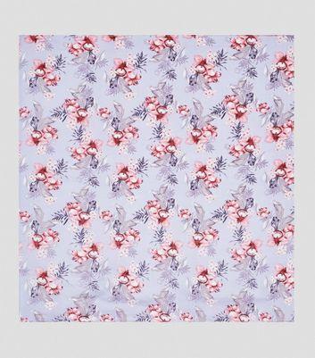 Lilac Floral Print Bandana New Look