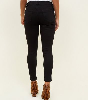 Petite Black Supersoft Skinny Jeans New Look