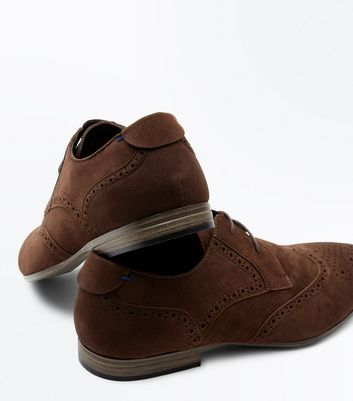 Brown Suedette Brogues New Look