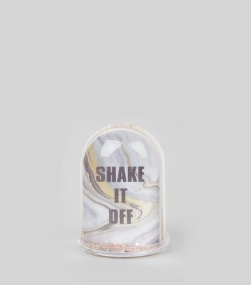Shell Pink Glitter Shake It Off Dome New Look