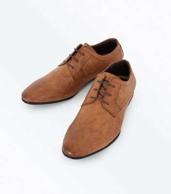 Tan Lace Up Gibson Shoes New Look