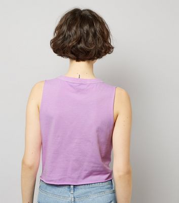 Purple Knot Front Tank Top New Look
