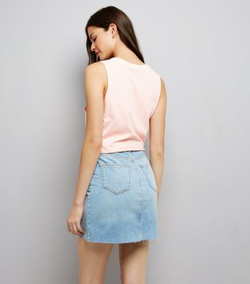 Pink Knot Front Tank Top New Look