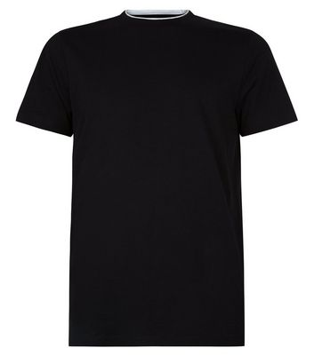 Black Layered Crew Neck T-Shirt New Look
