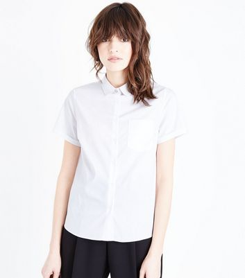 white-one-pocket-short-sleeve-shirt