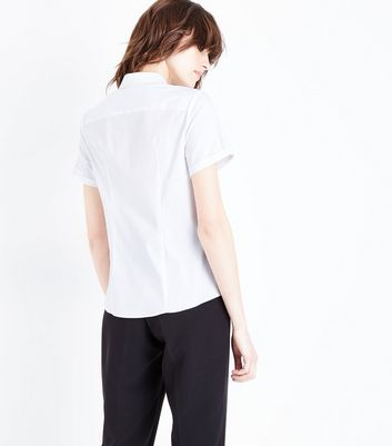 White One Pocket Short Sleeve Shirt New Look