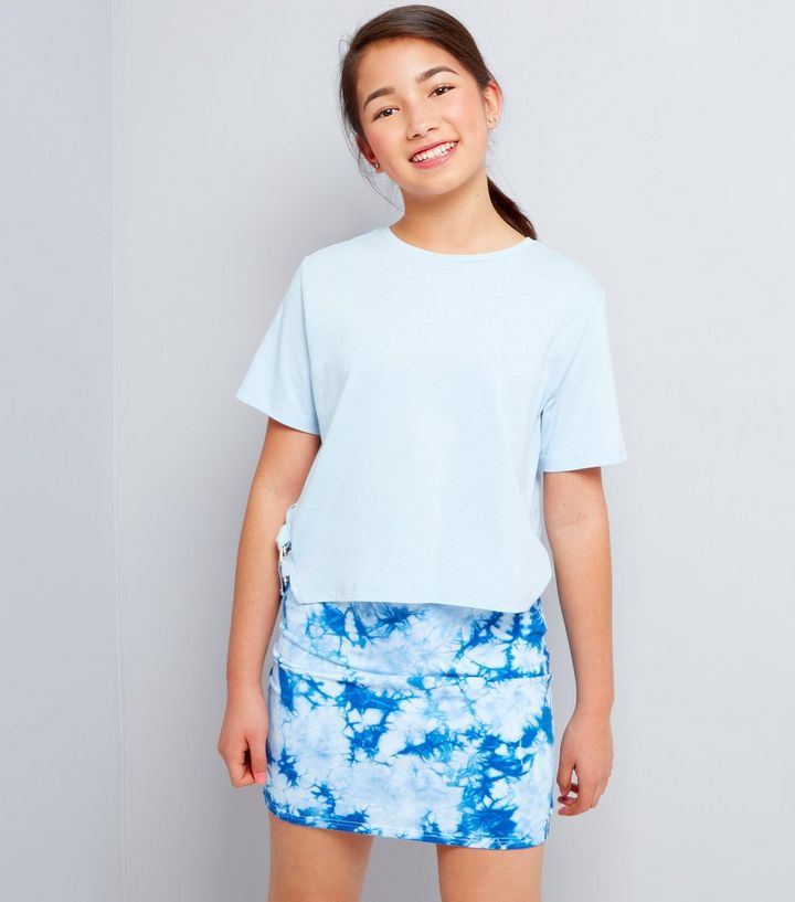 a169f369fc Teens Blue Tie Dye Tube Skirt