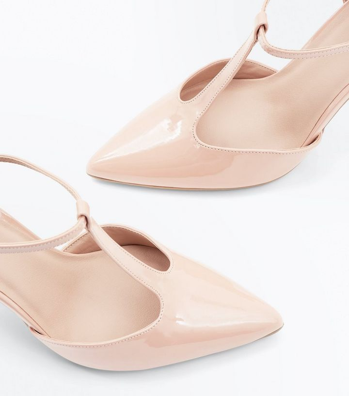 e6b43843d ... Pink Patent T-Bar Pointed Heels. ×. ×. ×. VIDEO Shop the look