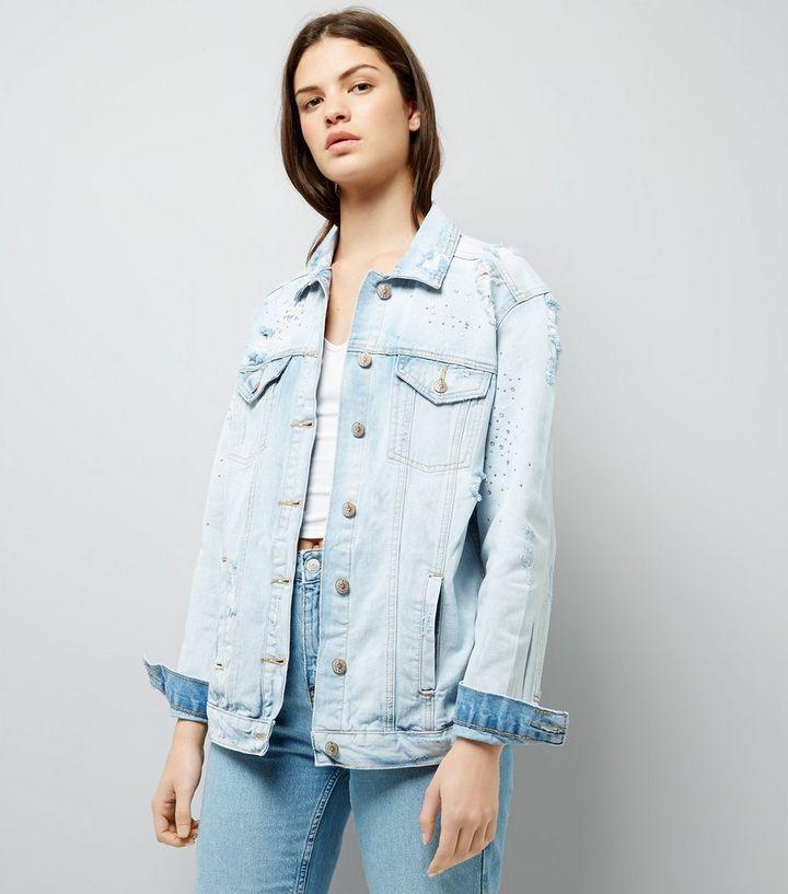 0d6c3cd010 Light Blue Mini Stud Denim Jacket | New Look