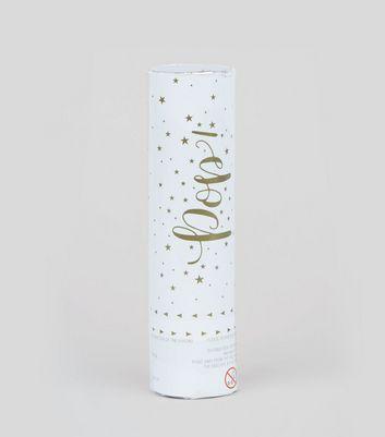 White Gold Wedding Confetti Cannon New Look