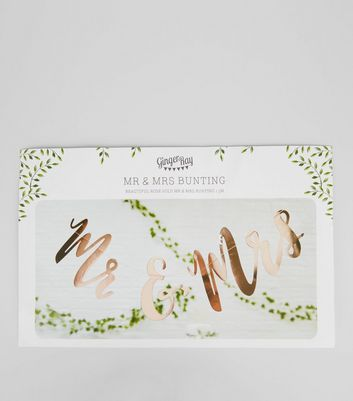 Rose Gold Mr and Mrs Bunting New Look