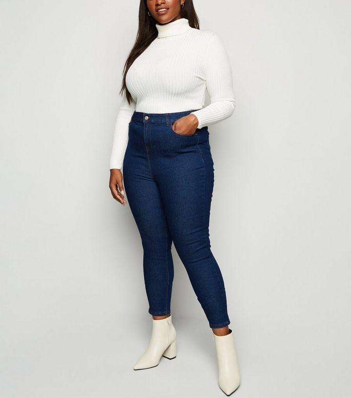 02110dca9d7d Curves - Jean skinny bleu à taille haute