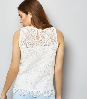 Apricot Cream Lace Swing Top New Look