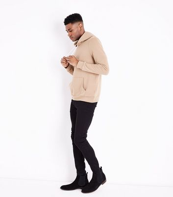Camel Pocket Front Hoodie New Look