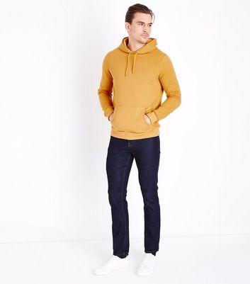 Mustard Pocket Front Hoodie New Look