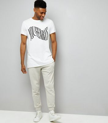 Pale Grey Joggers New Look