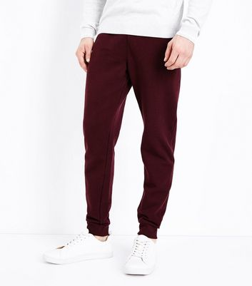 Burgundy Joggers New Look