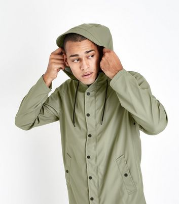 Khaki Rain Coat New Look