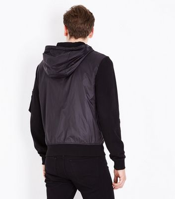 Black Zip Front Jacket New Look
