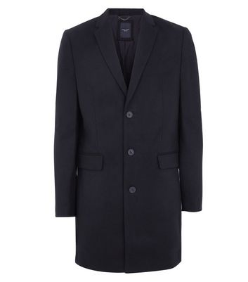 Black Smart Overcoat New Look